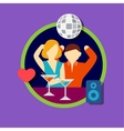 icon set of disco bar vector image