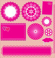 Image of set lace frames vector image