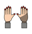isolated human hands vector image vector image