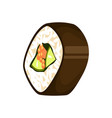 japanese sushi roll icon vector image
