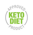 ketogenic diet sign rounded isolated button keto vector image