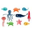 Marine Underwater Animals vector image