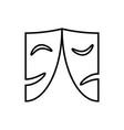 masks logo vector image