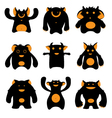 Monsters silhouettes vector | Price: 1 Credit (USD $1)