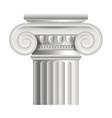 Object roman or greek column vector image