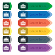 open icon sign Set of colorful bright long buttons vector image vector image