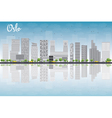 Oslo Skyline with Grey Building vector image