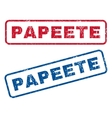 Papeete Rubber Stamps vector image vector image
