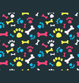 pet footprints pattern vector image vector image