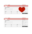plane tickets heart vector image