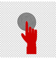 red index finger pointing to the target business vector image