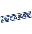saint kitts and nevis blue square stamp vector image vector image