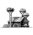 sawmill vector image vector image