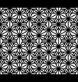 seamless geometric pattern black lines on white vector image