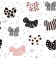 seamless hand drawn pattern with bows fashion vector image vector image