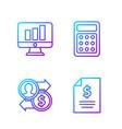 set line contract money job promotion exchange vector image vector image