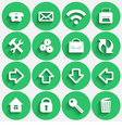 Set of Green Flat Style Round Buttons vector image vector image