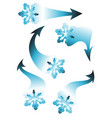 set of snowflakes arrow stickers vector image vector image