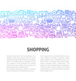 shopping line design template vector image vector image