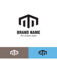 simple line house logo vector image