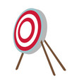 target bullseye strategy goal sign symbol icon vector image
