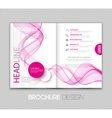 template leaflet design with color lines vector image vector image