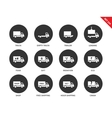 Trucks icons on white background vector image vector image