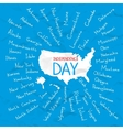 USA states independence day vector image vector image