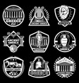 vintage ancient greece labels set vector image vector image