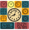Wall mounted digital clock vector image vector image