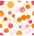 Watercolor rose and orange seamless pattern vector image vector image