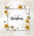white and golden merry christmas background vector image