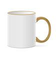 white coffee mug vector image vector image