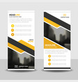 yellow label business roll up banner flat design vector image vector image