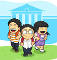 Kids Going Back to School vector image