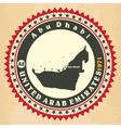 Vintage label-sticker cards of United Arab Emirate vector image