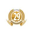 29 years ribbon anniversary vector image vector image