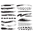 A collection of natural brush strokes