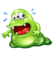 A greenslime monster escaping vector image vector image