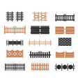 a large set of fences vector image vector image