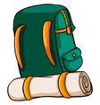 A travelling bag vector image vector image