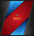 abstract background of luxury red black blue vector image