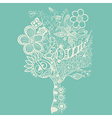 abstract tree on blue vector image vector image