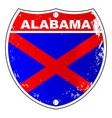 alabama interstate sign vector image vector image