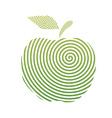 apple spiral vector image