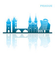 attractions prague abstract landscape vector image vector image