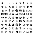 Big set of black universal web icons vector image