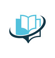 book education logo vector image vector image