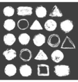 Brush strokes set vector image