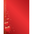 card with hearts and stars - red vector image vector image